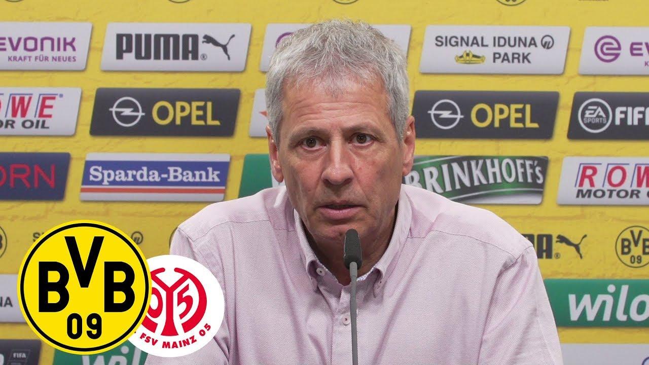 """""""Nach vorne schauen!""""   PK mit Lucien Favre und Michael Zorc   Borussia Dortmund - 1. FSV Mainz 05"""