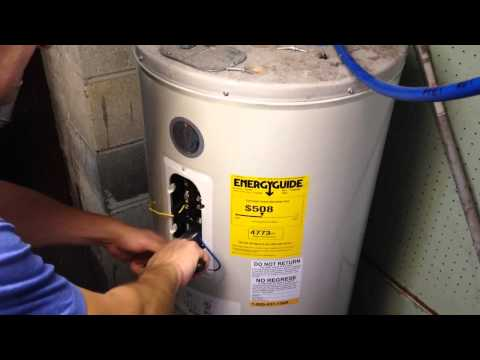 How To Change Heating Element In A Electric Hot Water Heater