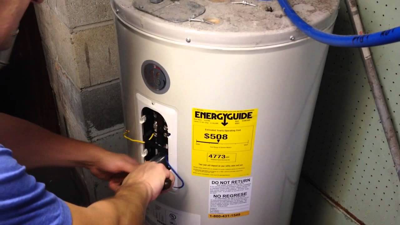 How To Change Heating Element In A Electric Hot Water Heater You