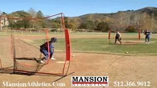 baseball softball portable pitching screen mansion athletics