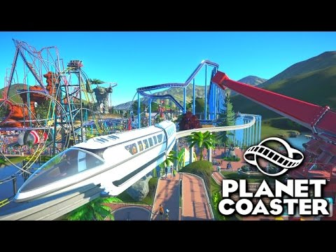 BUILDING A MONORAIL! - PLANET COASTER #19