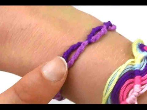 Freundschaftsband knüpfen Anleitung / Armband einfach selber machen / DIY