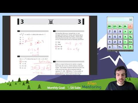 SAT Math Blue Book: Every Question Explained (Lesson 1)