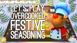 Overcooked Gameplay Festive Seasoning DLC: Overcooked 4 Player - Christmas Chaos with Outside Xbox!