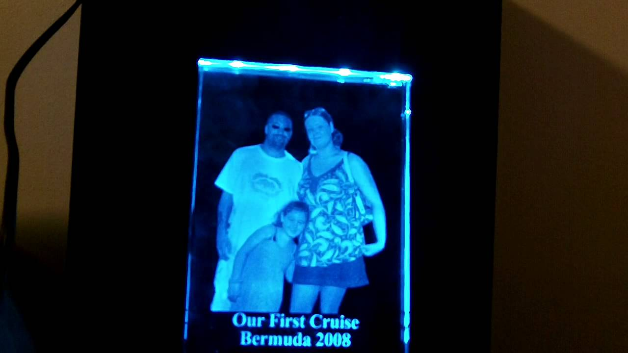 Rgb Led Glass Picture Frame Lighting Youtube