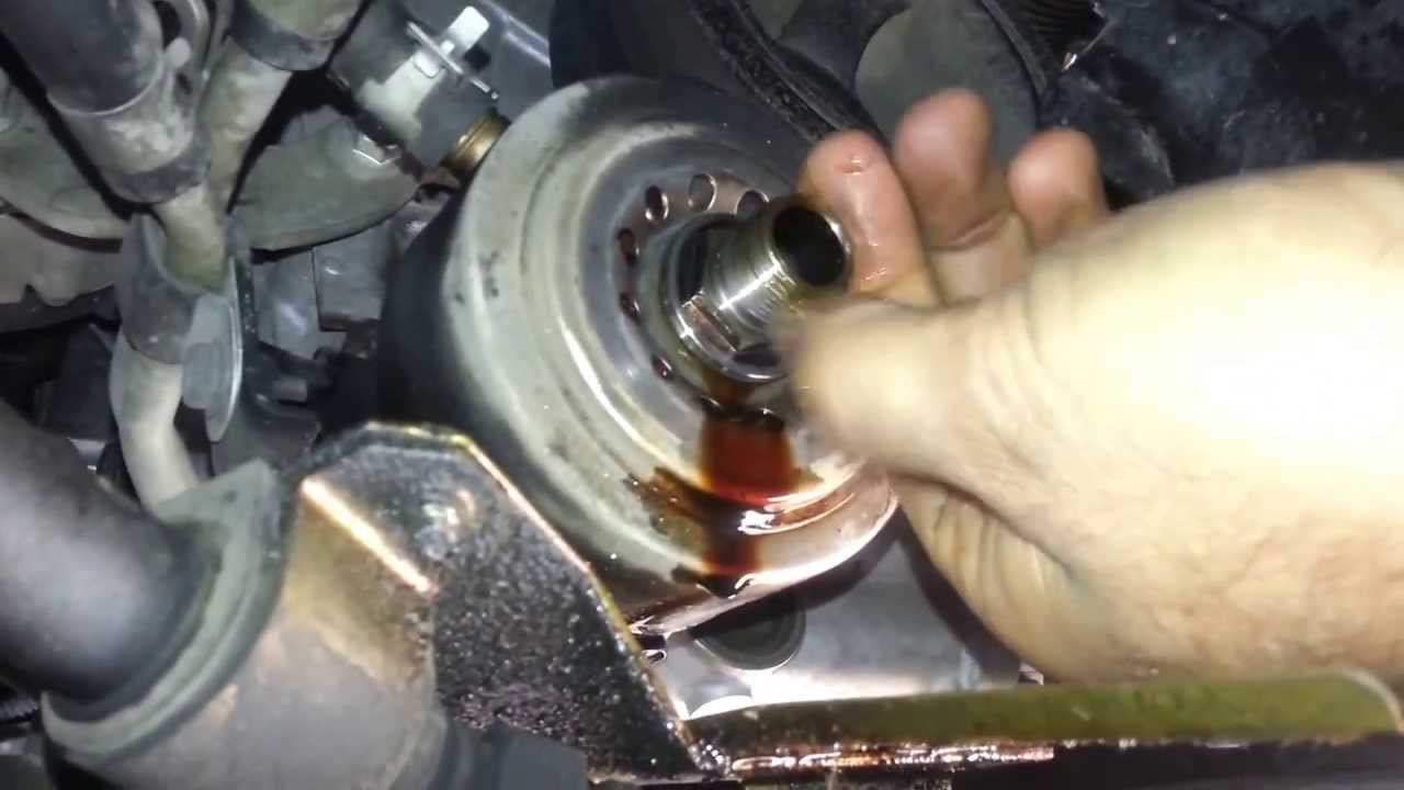 Nissan Xterra oil filter cooler housing oring leak  YouTube