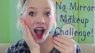 No Mirror Makeup Challenge! Thumbnail
