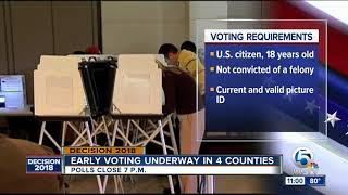 Early voting underway in Palm Beach County