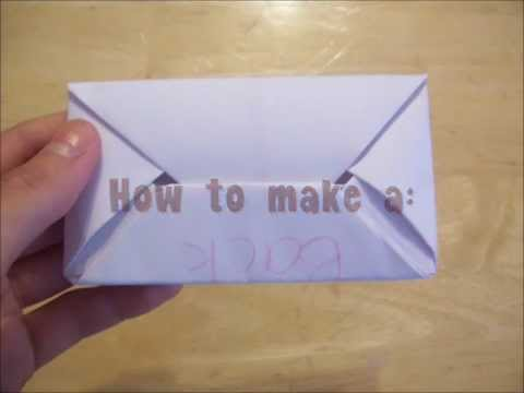 HowToMake A Secret Letter Quick And Easy Oragami