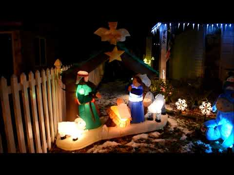 Inflatable Nativity Scene Airblown Christmas