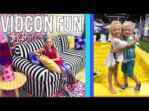 Alyssa's Dream Room & Michael Meets Everleigh - Vidcon Fun 2018