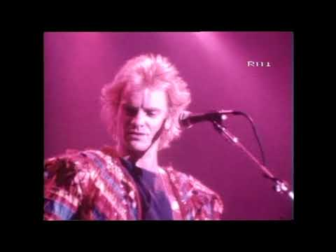 The Police - Live in Roma 1983  Rai Television Report RARE