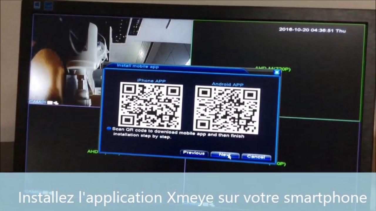 Configuration application Xmeye pour smartphone talinfo fr