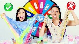 ROLETA MISTERIOSA MISTURANDO SLIME ★ The Mystery Wheel of Slime Challenge com a Mamãe thumbnail