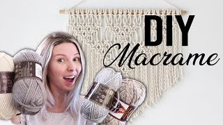 DIY SHOPPING HAUL | MACRAME WALL HANGING