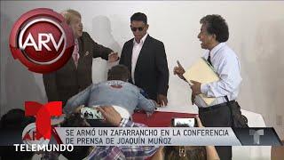 Se armó la grande en conferencia de prensa de Joaquín Muñoz | Al Rojo Vivo | Telemundo
