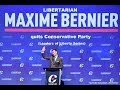 Libertarian Maxime Bernier quits Conservative Party (Leaders of Liberty Series)