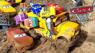 Disney Cars 3 Toys Lightning Mcqueen Cruz Ramirez and Mini  Racers Vs Miss Fritter