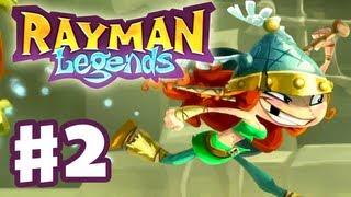 Rayman Legends - Gameplay Walkthrough Part 2 - Rescue Barbara (PS3, Wii U, Xbox 360, PC)