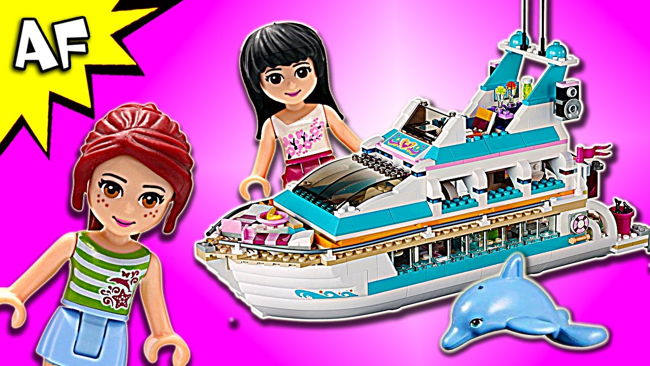 Lego Friends Heartlake Dolphin Cruiser 41015 Speed Build Youtube