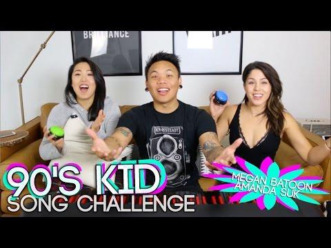 90s Kid Song Challenge - Megan Batoon vs Amanda Suk | AJ Rafael