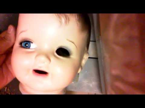 Replacing Eyes in an Antique Composition Doll The Swanky Way Pt 5