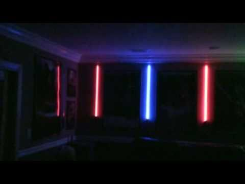 Home Theater Lightsaber Display With Star Wars Force Fx