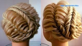Хитросплетения. Причёска из кос. Видео-урок.