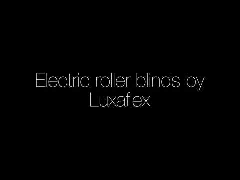 Electric roller blinds by Luxaflex
