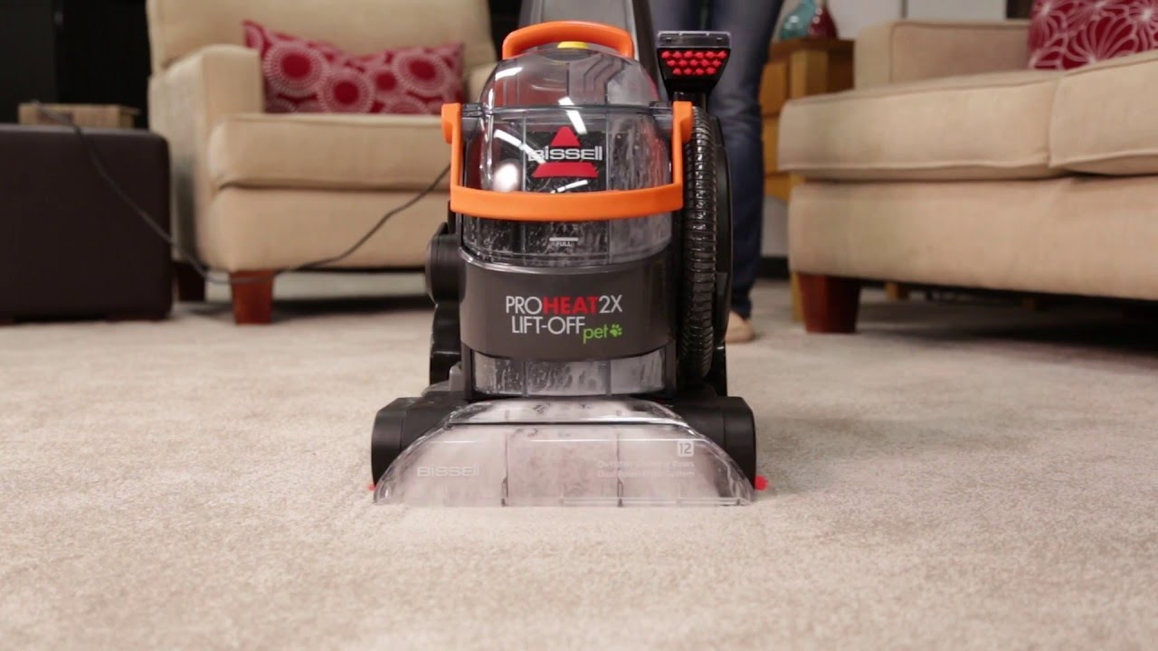 Proheat 2x 174 Lift Off 174 Upright Carpet Cleaner Spraying