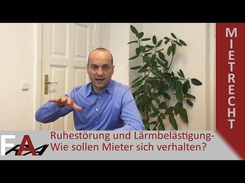 Ruhestörung und Lärmbelästigung - Wie sollen Mieter sich verhalten? | Mietrecht