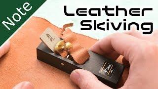 Leather Skiving by Mini Wood Block Plane~豆カンナで革の床漉に挑戦【自作工房】