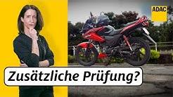 Mit dem Autoführerschein 125er Motorrad fahren | ADAC | Recht? Logisch!