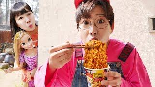 뽀로로 짜장면 장난감 선물 놀이 Pororo Black Noodle pretend stories for kids