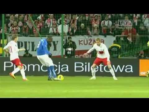 Poland vs Italy 0-2 - Mario Balotelli AMAZING Goal - (Friendly - 11.11.2011)