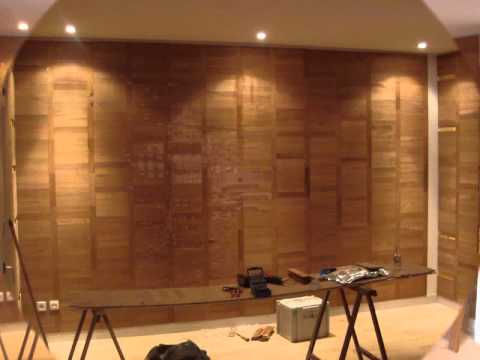 parquet sur mur youtube. Black Bedroom Furniture Sets. Home Design Ideas
