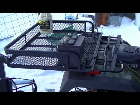 ATV Rear Drop Basket Trail Cargo Rack Farm Universal Fit Hauler Steel Storage