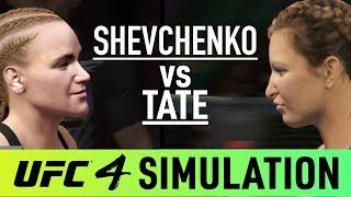 Valentina Shevchenko Vs Miesha Tate - EA Sports UFC 4 Simulation - (CPU Vs CPU)