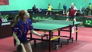 Виктория ЗЫРЯНОВА - Дарья КОРЯКИНА Настольный теннис, Table Tennis