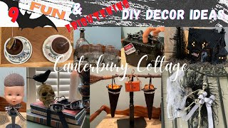 9 Halloween Fun aฑd Frightening DIY Home Decor Projects