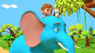 The Giant Elephant Song | Music for Kids | Kindergarten Cartoon Song for Children | Little Treehouse