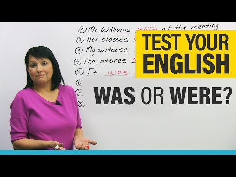 Basic English Grammar: How to Use WAS and WERE