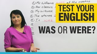 Basic English Grammar How To Use WAS And WERE