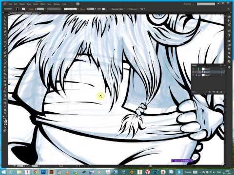 рисуем пирата,контур ,покраска,рассуждаем о профессии иллюстратор Paint In Photoshop To Wacom Cintiq