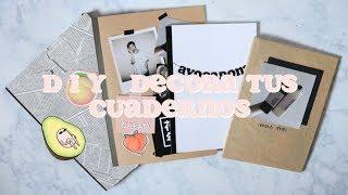 DIY Decora tus cuadernos // Aesthetic peach theme
