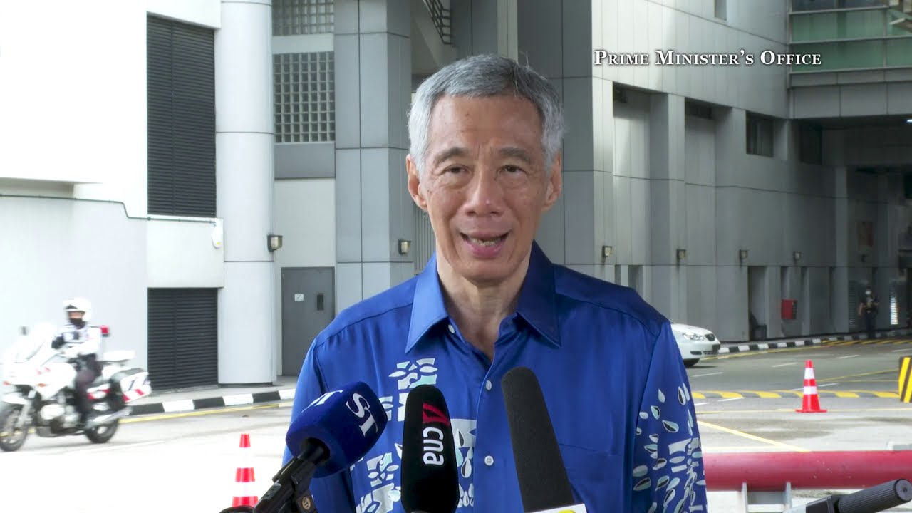 PM Lee Hsien Loong at the RTS Link Agreement Presentation Ceremony (Chinese)