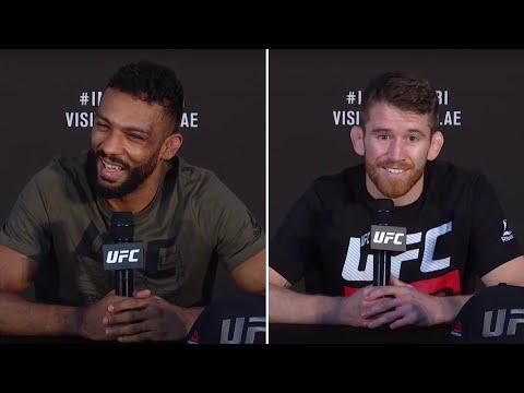 Кори Сэндхаген и Эдсон Барбоза на пресс-конференции после UFC Бойцовский остров 5