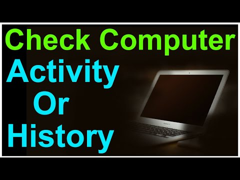 How To Check Computer Activity History  windows | How to See Recent Activity on Computer