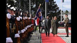 Ceremonial welcome of President Kovind in Croatia