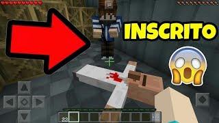 INVADI O MUNDO DO INSCRITO E OLHA O QUE ELE FEZ !! (Minecraft Pocket Edition)